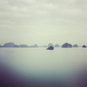 foggy halong bay