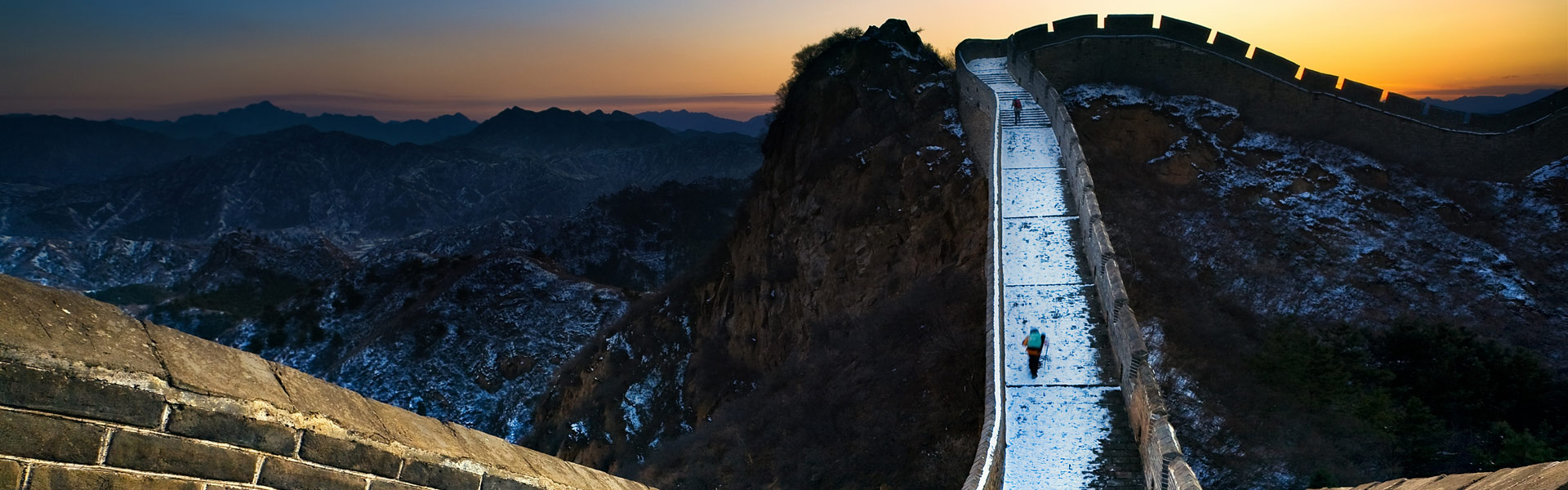 snow on great wall