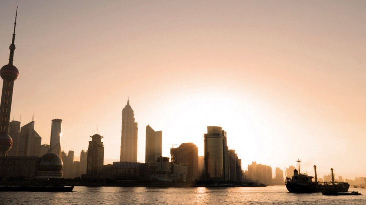the bund at sunset