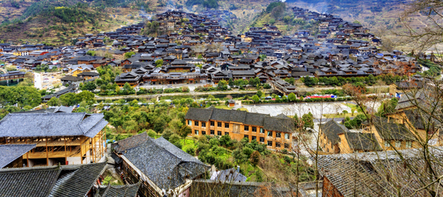 Guizhou minority village