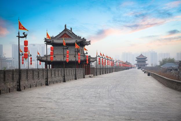 xian's ancient city walls
