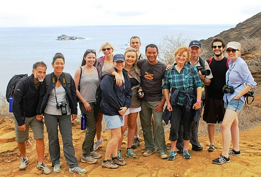 Zoe Dawes from the 'Quirky Traveller' with her group tour in Ecuador