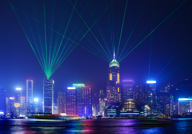 symphony of lights hong kong harbour