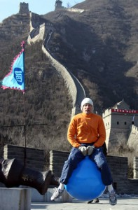 Jumping Great Wall of China