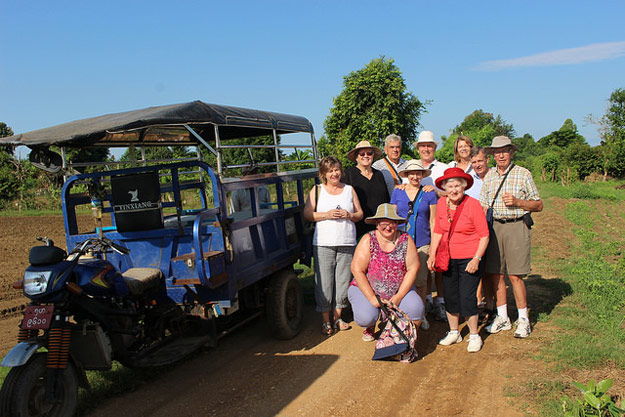 clare and her burma tour