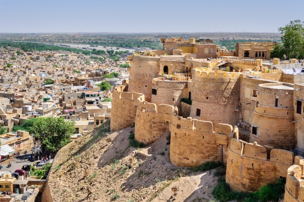 Overlooking Jaisalmar Fort and the city beyond