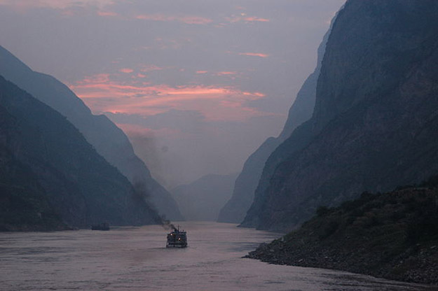 Sunset over the Yangtze River
