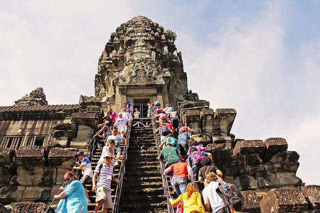 Visit the Angkor Wat temple in Cambodia