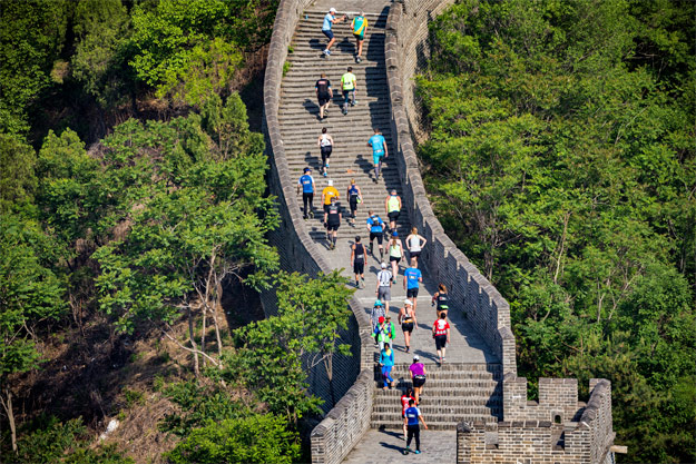 great wall marathon ascent