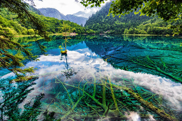 Lake in Jiuzhaigou National Park