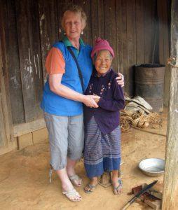 Pauline in Laos