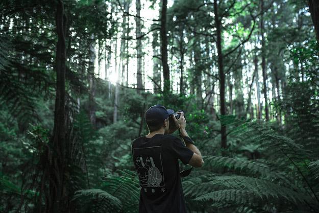 Man taking photograph