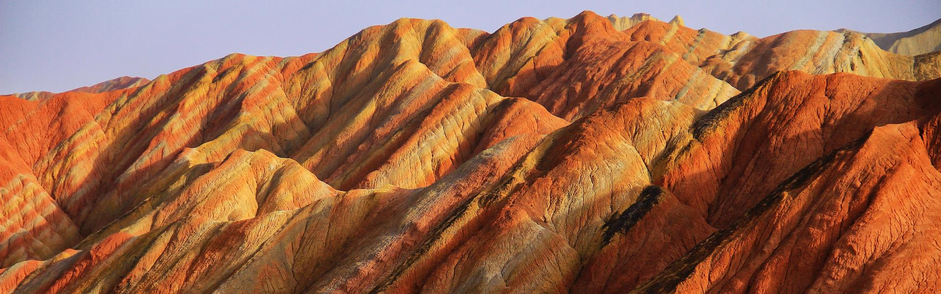 Zhangye Danxia Geopark, Gansu China