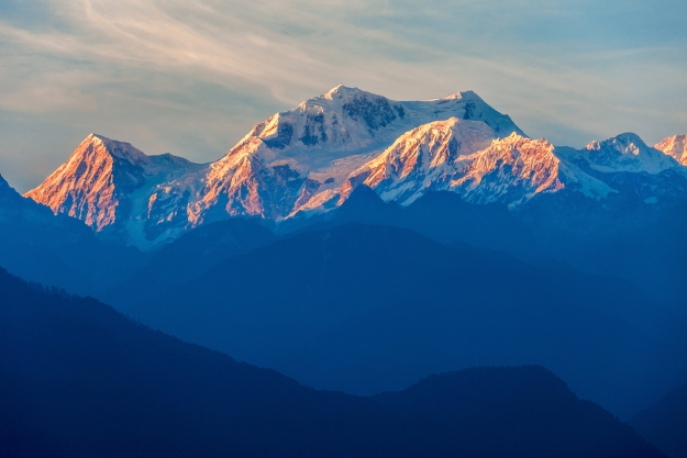 View of Mt Kangchenjunga from Pelling