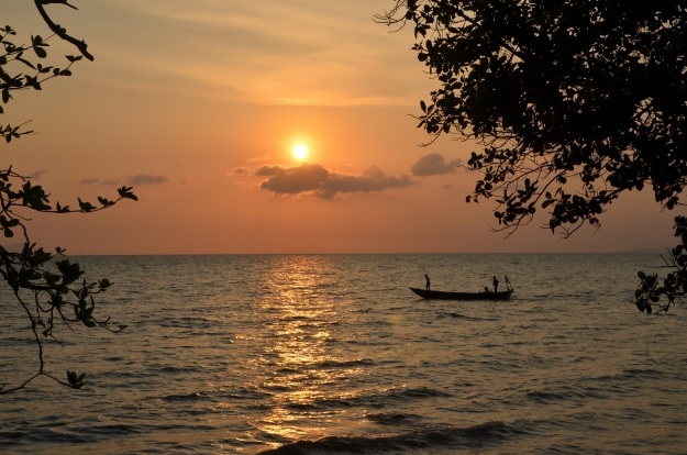 Kep, Cambodia at sunset