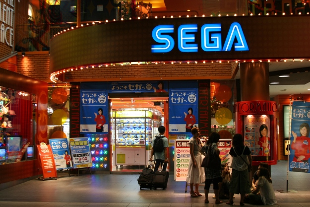 Sega video game arcade in Japan