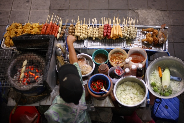 Street food stall in Asia
