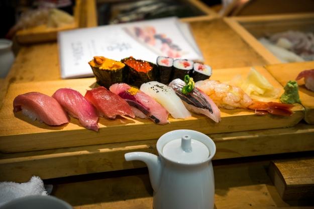 Sushi at a Tokyo restaurant