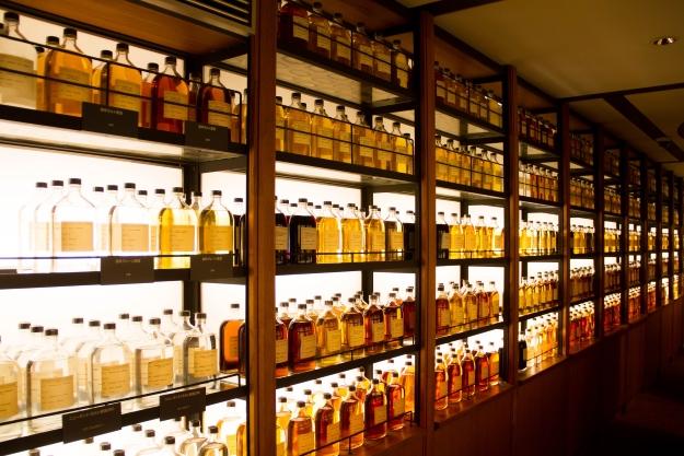 Whisky library at Yamazaki Distillery