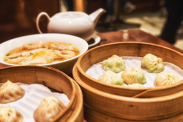Traditional Chinese dumplings in Shanghai