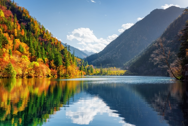 Jiuzhaigou National Park in autumn