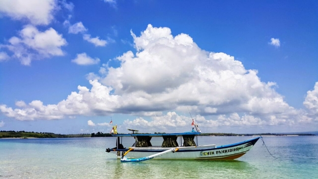 Boat in the water in South East Asia