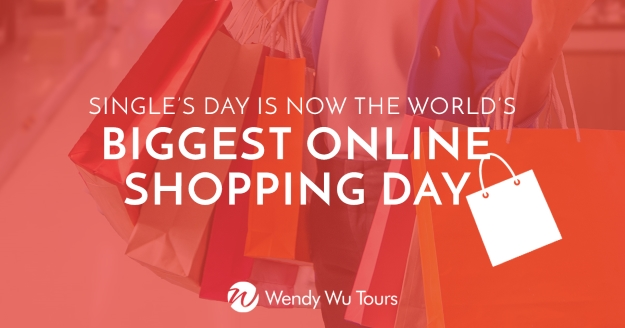 Online shopping day infographic