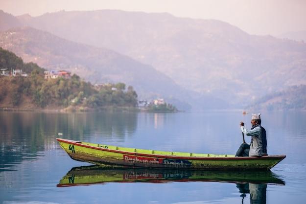 Boat journey in India