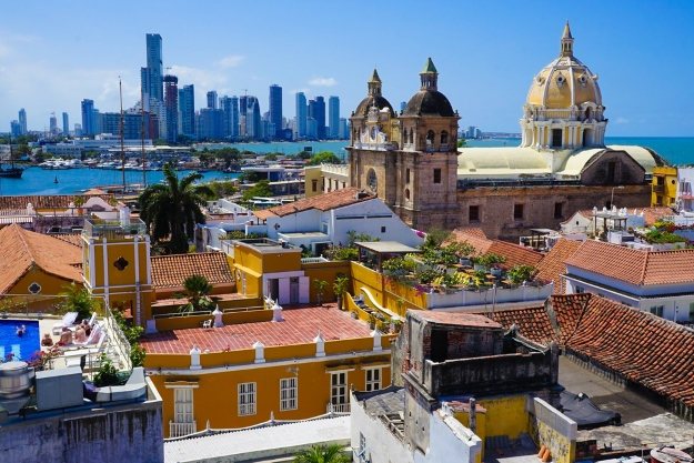 View over Cartagena Old Town