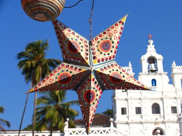 Christmas star in Goa