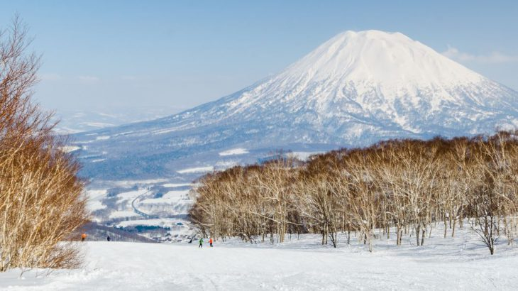 Ski slopes with Mount Yotei