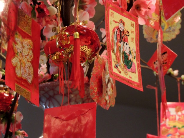 Red money packets for Chinese New Year