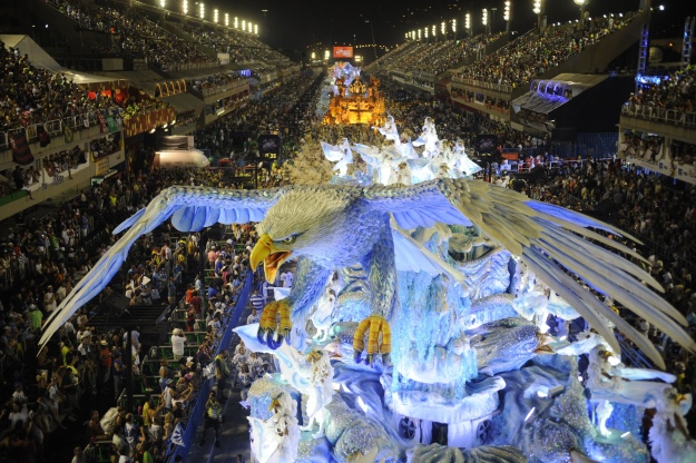 A float passing through Rio's Sambadrome.
