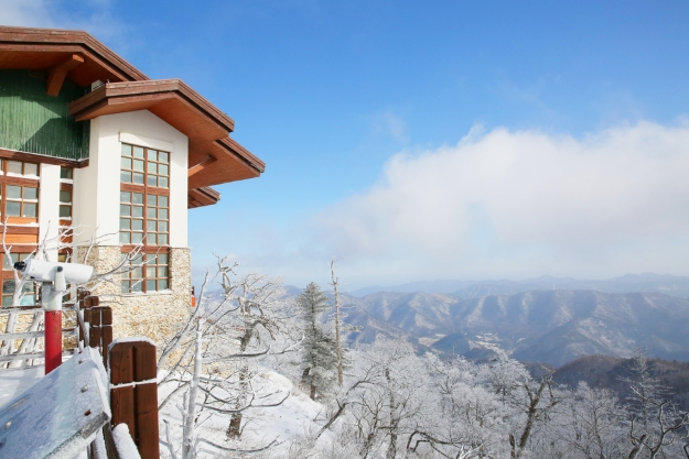 Views from South Korea ski resort
