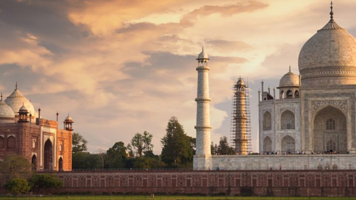 Full view of the Taj Mahal