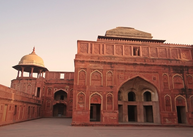 Red sandstone Agra Fort India