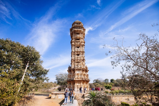 Chittor Fort on a sunny day