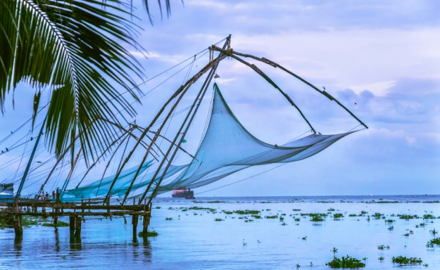 Chinese fishing nets in Kochi City Kerala