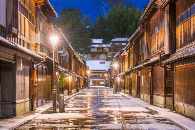 Higashi Chaya Street in Kanazawa