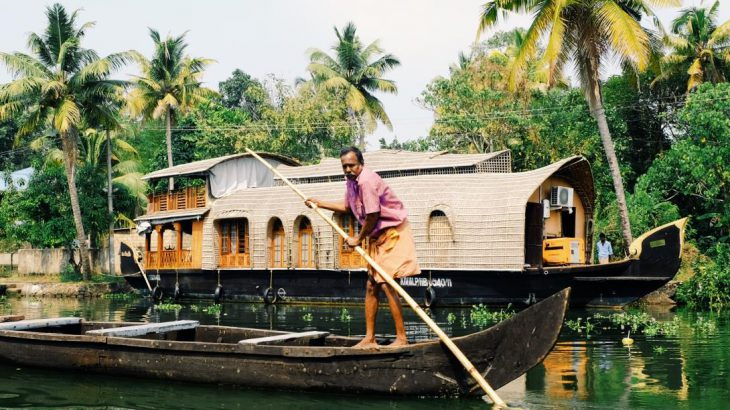 Boats on Kerala's backwaters