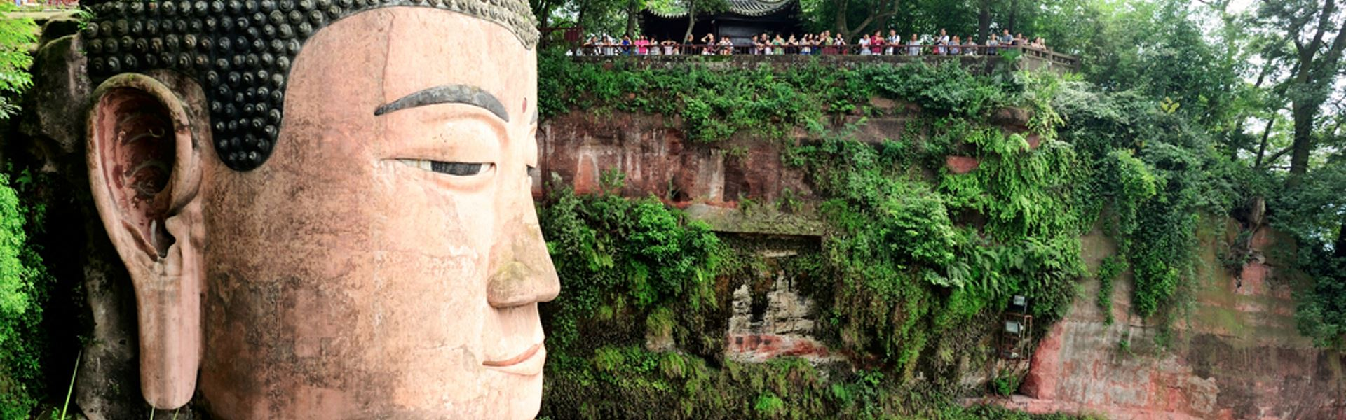 Giant Buddha statue in Leshan, China