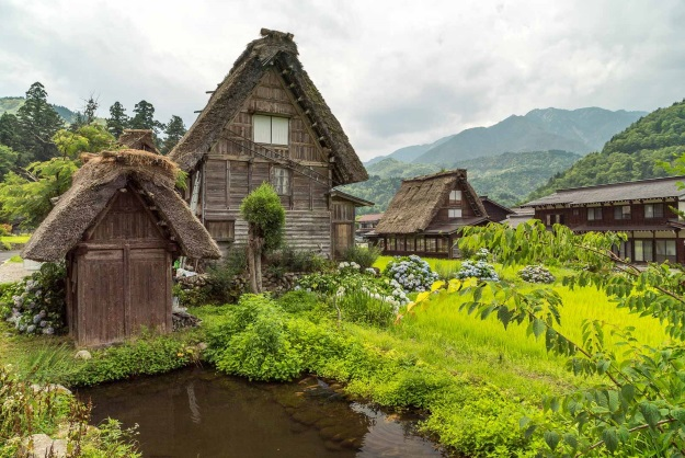 Ancient houses in Shirakawa-go Japan