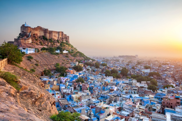 The blue city of Jodhpur India