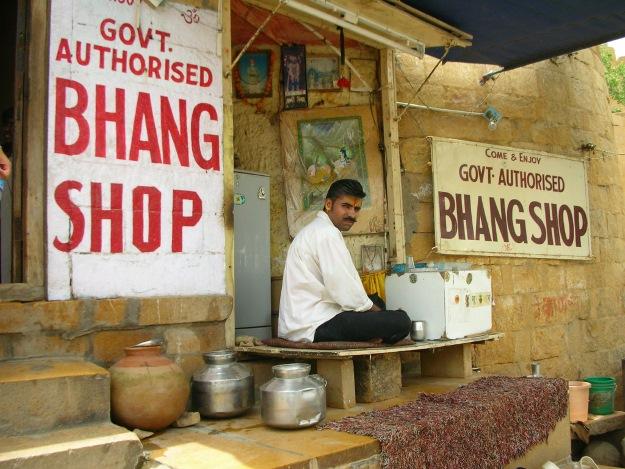 A bhang shop