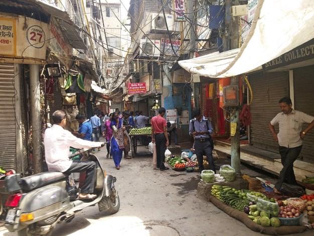 Chandni Chowk bazaar in Delhi India