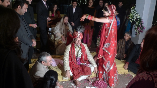 A Hindu wedding ceremony