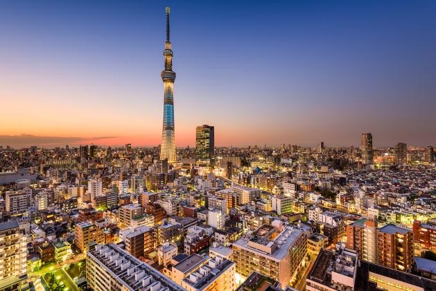 Tokyo at twilight