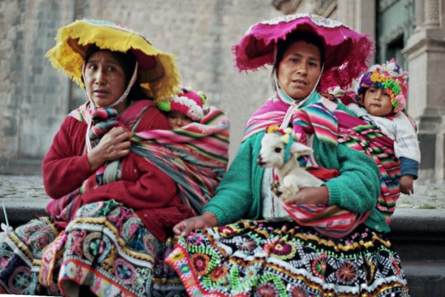 Women in traditional clothes, Cusco