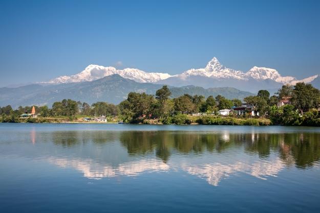 Lake Phewa and Annapurna views