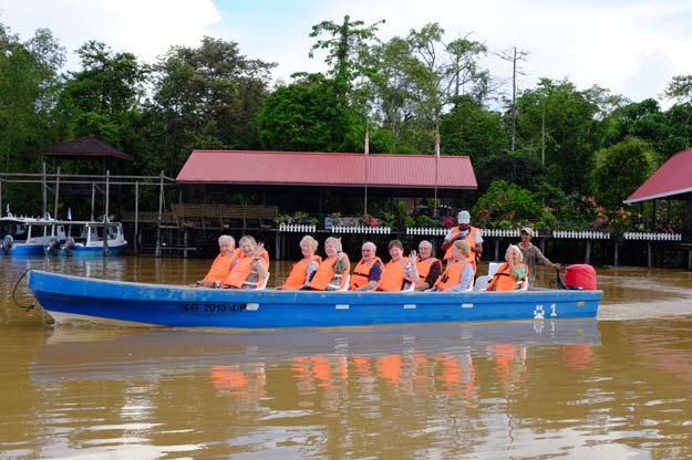 Customers in a boat on the river